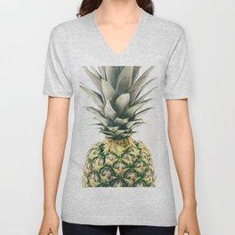 Pineapple Close-Up Unisex V-Neck