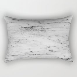 White Marble with Black Flecks Rectangular Pillow