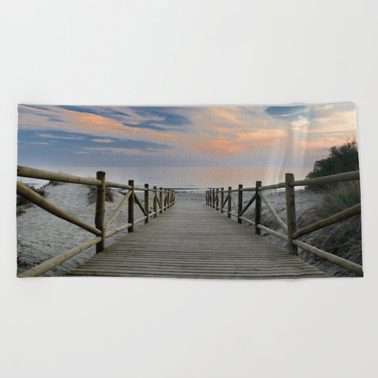 "The path..., the beach II .... ""Artola"". Beach Towel"