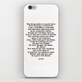 The Guest House 2 #poem #inspirational iPhone Skin