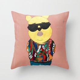 Biggie The Pooh/ Notorious P.O.O.H Throw Pillow