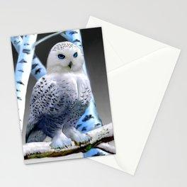 Blue-eyed Snow Owl Stationery Cards
