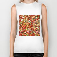 candy Biker Tanks featuring candy by bugo