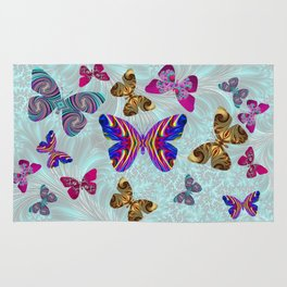 Fractal Butterfly Paradise Rug