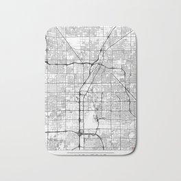 Las Vegas Map White Bath Mat