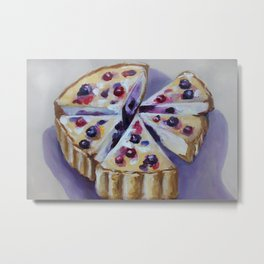 `Desert, cake, food, original oil painting Metal Print