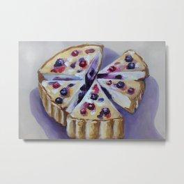 Desert, cake, food, original oil painting Metal Print