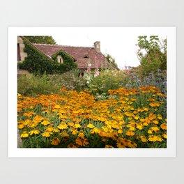 Apremont-sur-Allier Village Cottage Art Print