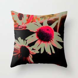 Doom Daisy's Throw Pillow