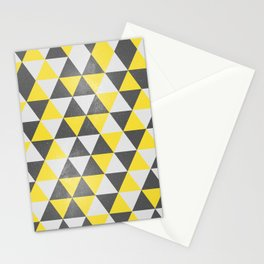 Triangalaxy Yellow Stationery Cards