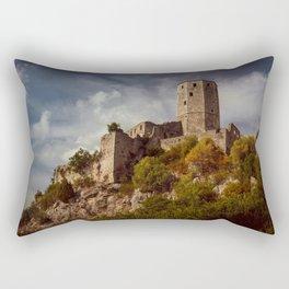 An old abandoned castle Rectangular Pillow