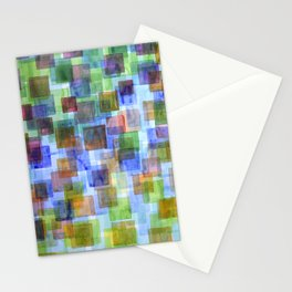 Squares in all the Colors of the Rainbow Stationery Cards