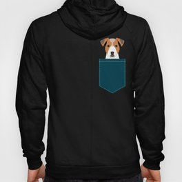 Bailey - Jack Russell Terrier phone case art print gift for dog people Jack Russell Terrier owners Hoody
