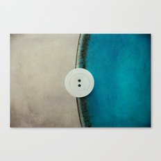 white button Canvas Print