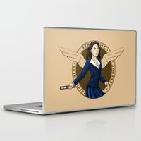 peggy carter Laptop & iPad Skins featuring Agent Carter by Arania