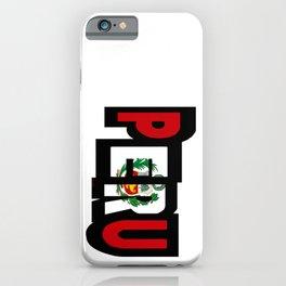 Peru Font With Peruvian Flag iPhone Case