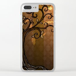 LEAVE - Autumn Amber Clear iPhone Case