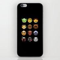 emoji iPhone & iPod Skins featuring Emoji Wars by Vincent Trinidad