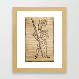 Knight of Knowledge Framed Art Print