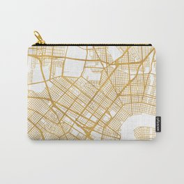 NEW ORLEANS LOUISIANA CITY STREET MAP ART Carry-All Pouch