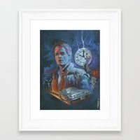 back to the future Framed Art Prints featuring BACK TO THE FUTURE by Todd Spence