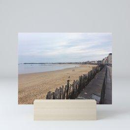 Cloudy French Ocean Boardwalk Mini Art Print