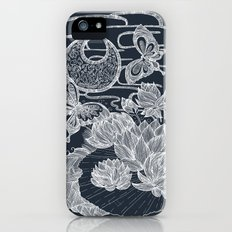 Lotus and Butterfly Slim Case iPhone (5, 5s)