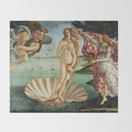 The Birth of Venus by Sandro Botticelli, 1445 Throw Blanket