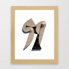 Squat Framed Art Print