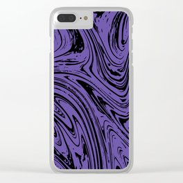 Ultraviolet Marble Clear iPhone Case