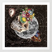 novelty Art Prints featuring Universe Striving for Novelty by Eugenia Loli