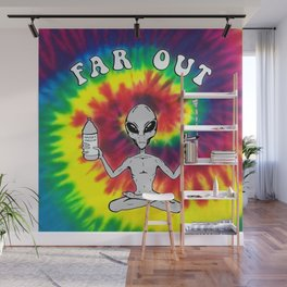 Far Out Alien (Tie Dye) Wall Mural