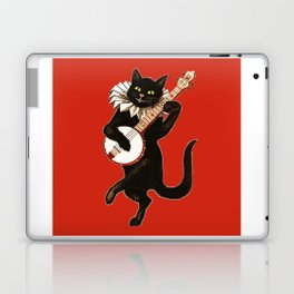 Black Cat for Halloween with Red Laptop & iPad Skin