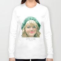 emma stone Long Sleeve T-shirts featuring Emma Stone by You Xiang