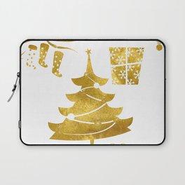 Gold Christmas 03 Laptop Sleeve