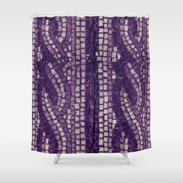 stone tile 4378 ultra violet Shower Curtain