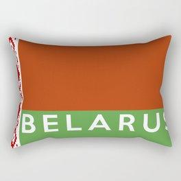 belarus country flag name text Rectangular Pillow