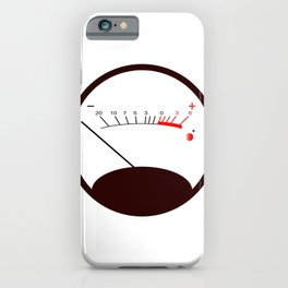 Round VU Meter No Signal iPhone Case