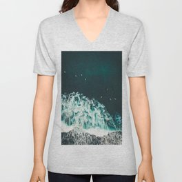 WAVES - OCEAN - SEA - WATER - COAST - PHOTOGRAPHY Unisex V-Neck