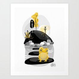 Golden Morning Forest Frog Art Print