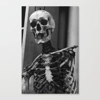 skeleton Canvas Prints featuring Skeleton by Evan Morris Cohen