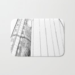 Monotone Bridge Bath Mat