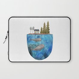 Whales are watching you Laptop Sleeve
