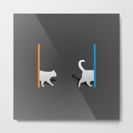 Portal Cat Metal Print