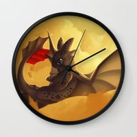 toothless Wall Clocks featuring Toothless! by NezuPanda