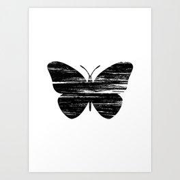 Buterfly Silouetthe Art Print