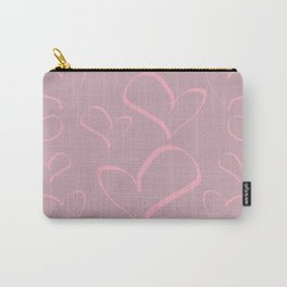 Heart shapes love romance art Carry-All Pouch