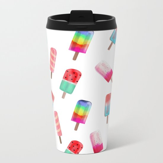 Watercolored Popsicles Metal Travel Mug