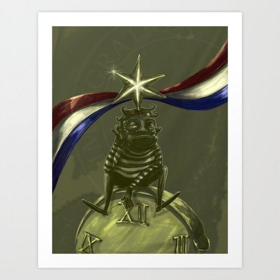 US H1B visa Art Print