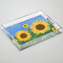 Sunflower Day Acrylic Tray